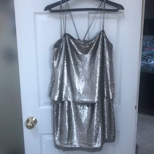 Pewter/silvery sequin Banana Republica Dress